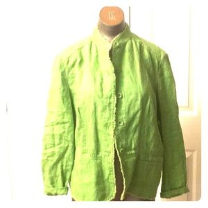 Washable coldwater creek PL kiwi jacket cotton